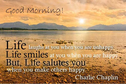 Great Good Morning Quotes Life Laughs At You