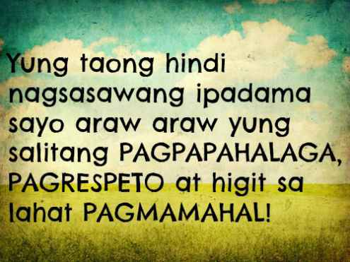 Inspirational Tagalog Love Qoutes Text