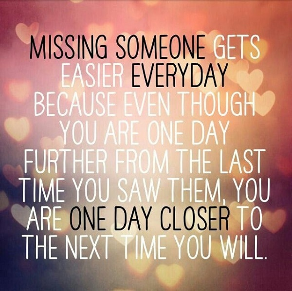 Missing a Distant friend quote