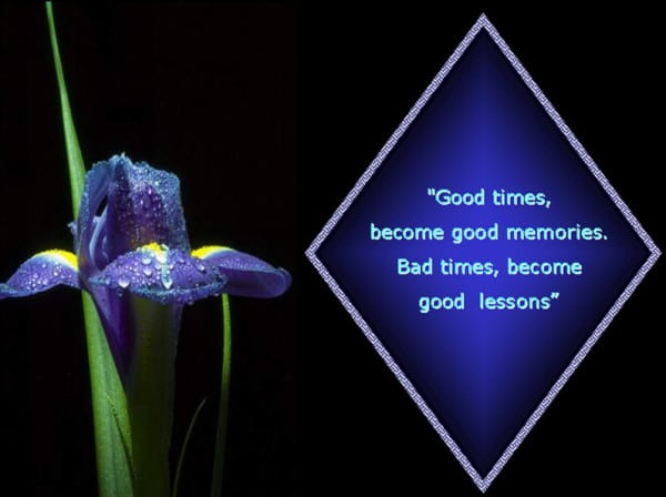 Good Times Become Good Memories; Bad Times Become Good Lessons. Sad Quotes  Pinterest