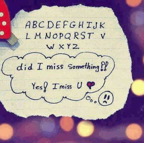 Cute alphabets and i miss you quotes