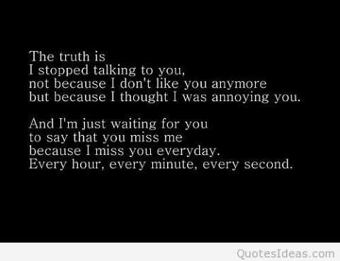 I'm missing you everyday quotes.