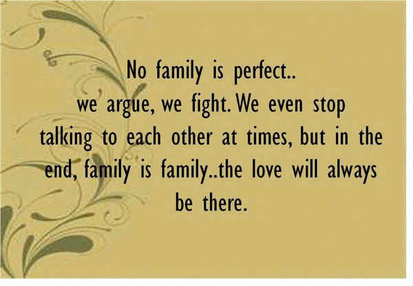 About being a perfect family quotes.