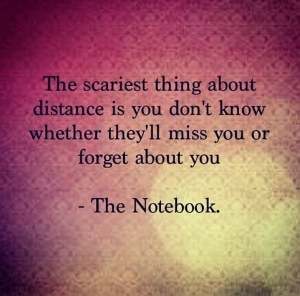 sad distance quotes
