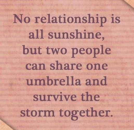 No relationship is all sunshine??