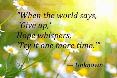 about hope words of encouragement
