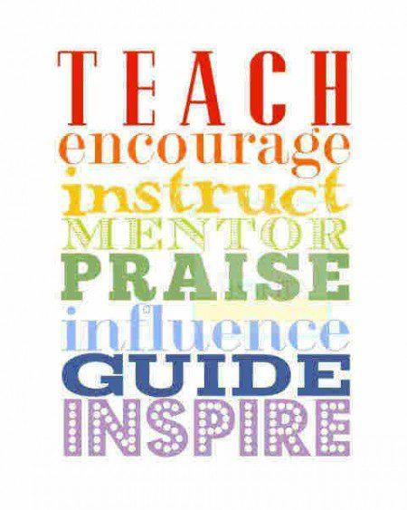 big words of encouragement