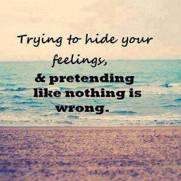 depression quotes about hiding feelings
