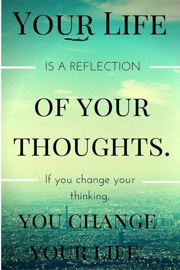 Your Life Is A Reflection Of Your Thoughts. Quotes About Change Of Thoughts