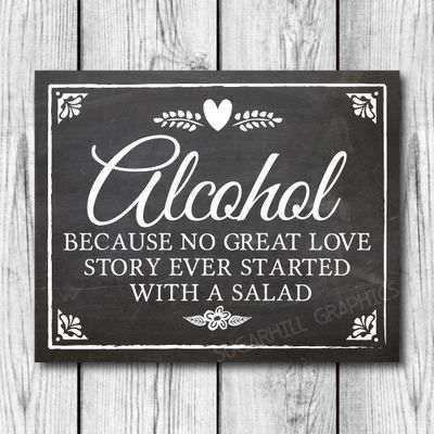 Wedding Quotes Funny Bar Signages