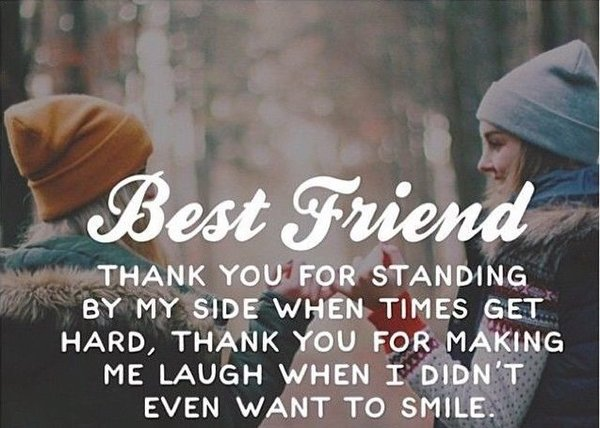 Thank You Quotes for bestfriend