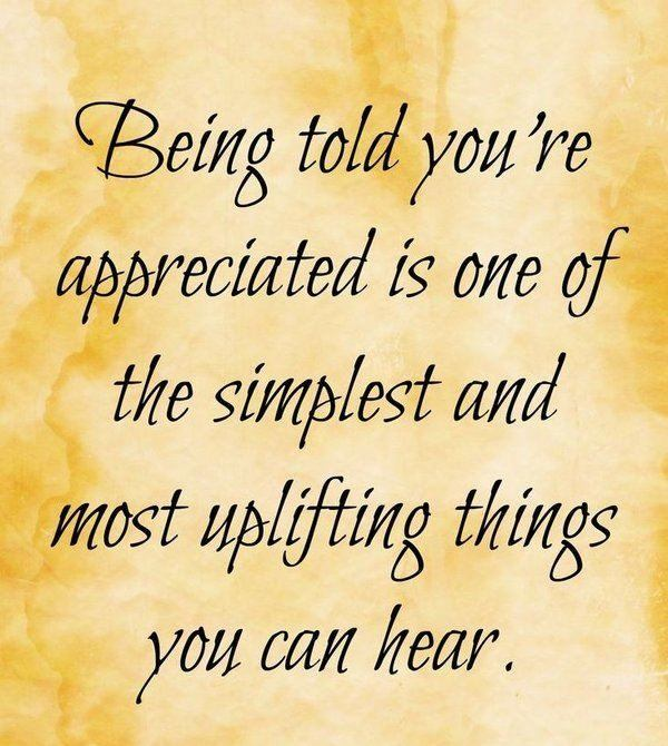 appreciation thank you quotes