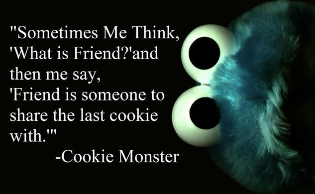 Cookie Monster Wednesday Quotes