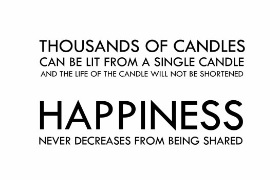 Happiness Candles Wednesday Quotes