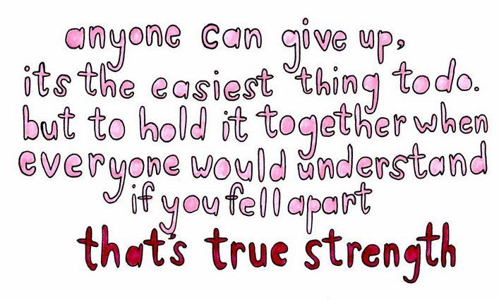 True Strength Tuesday Quotes