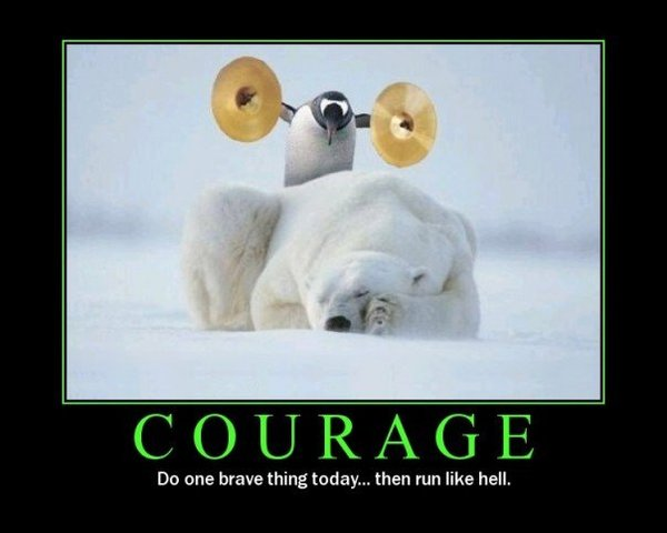 Have the courage to do the thing that you want to do today.