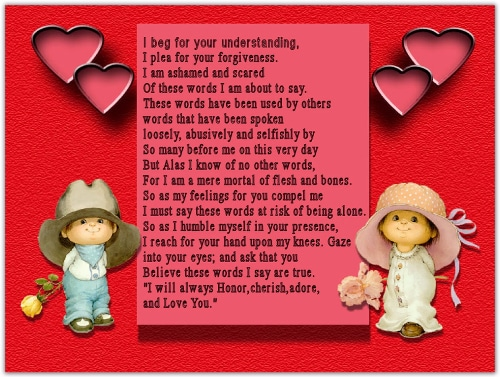 Romantic Love Poems for Him