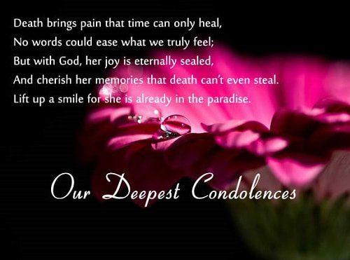 Short Death Sympathy Quotes