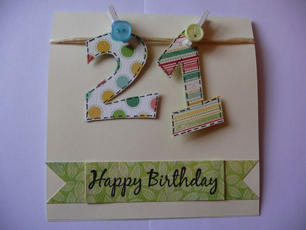 37 Homemade Birthday Card Ideas and Images Good Morning Quote – Simple Handmade Birthday Cards