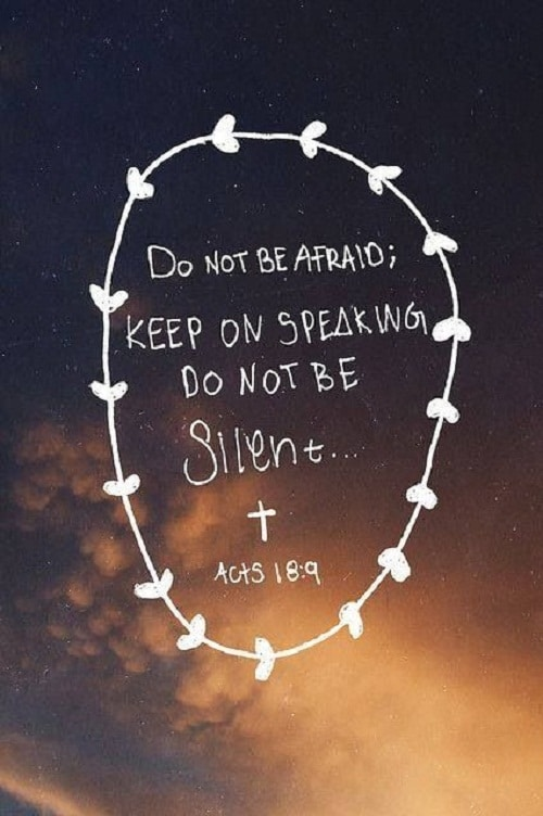 Do not be Silent Bible Quotes