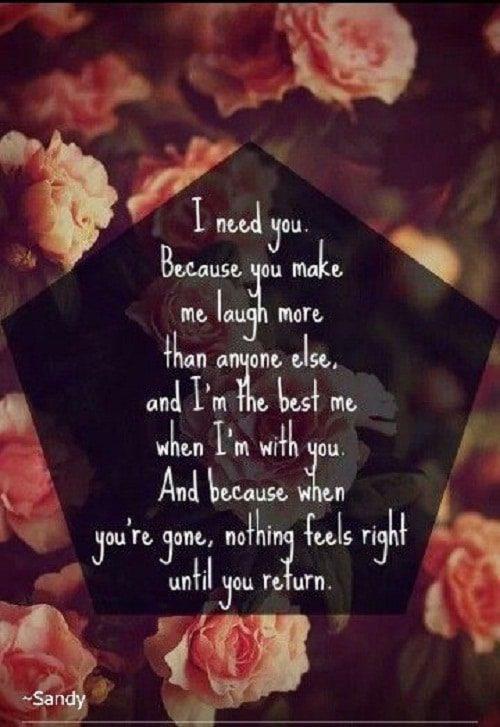 I Need You Amazing Quotes