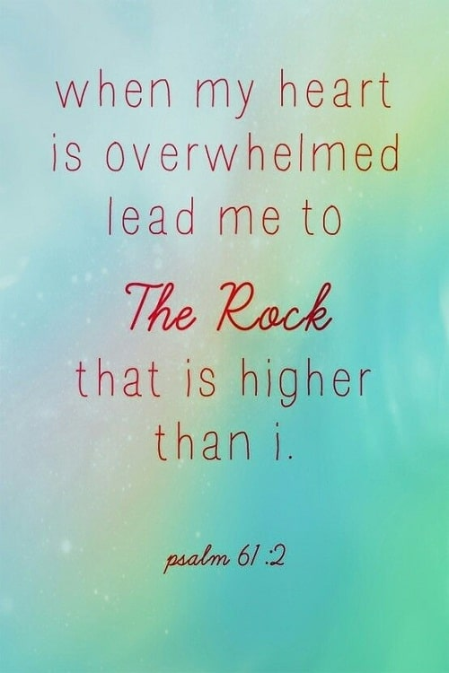 Lead me to the Rock Bible Quotes