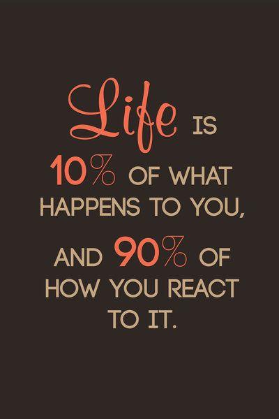 Life is 10 Percent 90 Percent Amazing Quotes