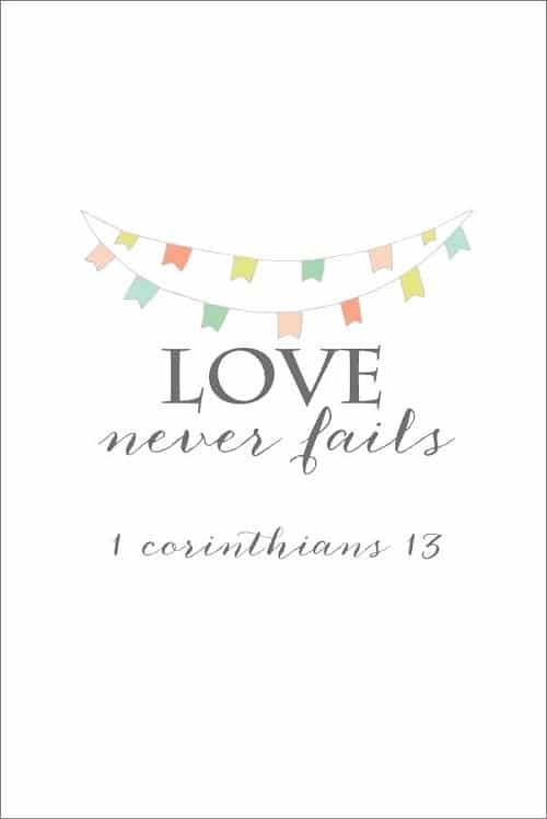 Nice Love Never Fails Bible Quotes