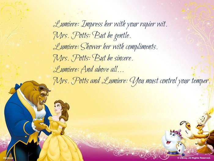 Beauty And The Beast Quotes on love quotes and sayings for her