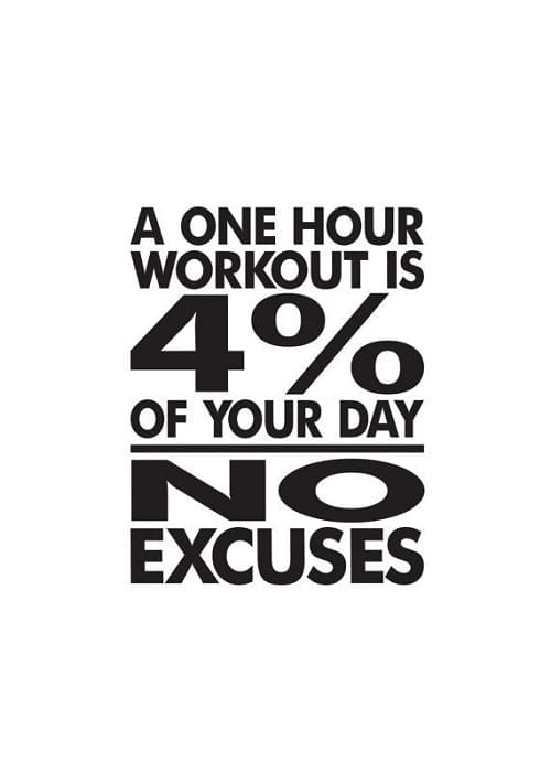 U201cA One Hour Workout Is 4% Of Your Dayu2026u201d One Hour Workout Gym Quotes