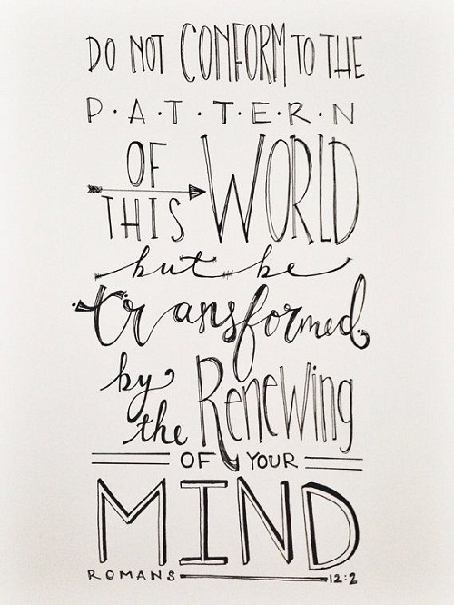 Renewing of your Mind Bible Quotes