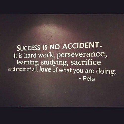 Success is no Accident Graduation Quotes