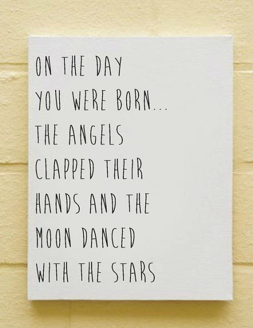 Angels Clapped Baby Quotes