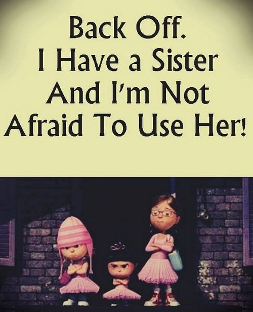 Sister Funny Quotes Gorgeous 31 Funny Sister Quotes And Sayings With Images  Good Morning Quote