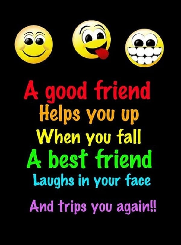A Good Friend Helps You Up When You Fall. Inspiring True Friends Quotes