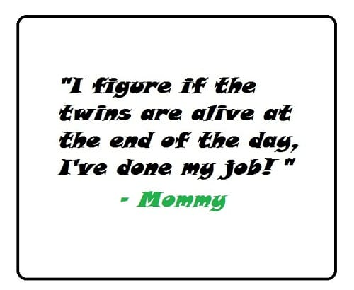 I've Done my Job Twin Quotes Mother
