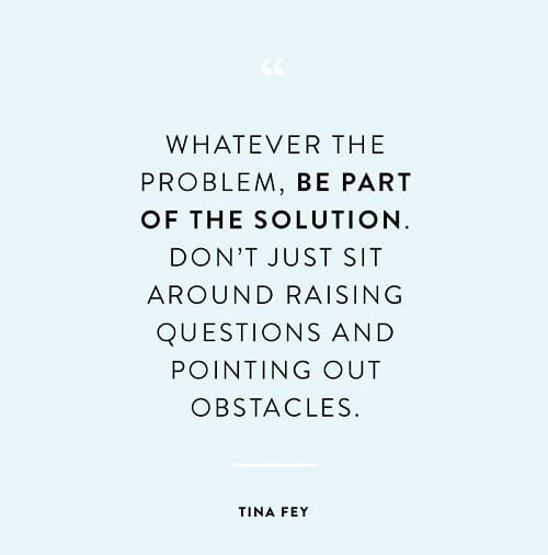 Part of the Solution Struggle Quotes