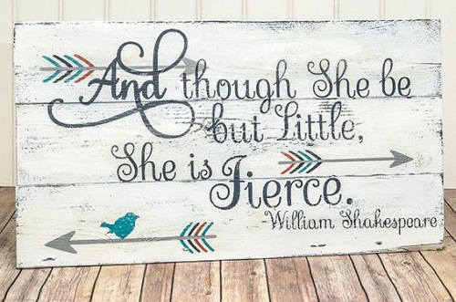 She is Fierce Baby Quotes