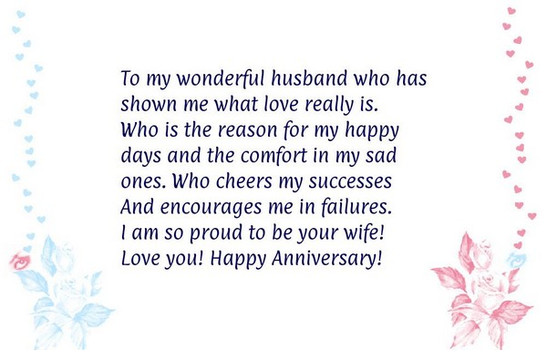 100 anniversary quotes for him and her with images good morning quote to my wonderful husband who has shown me what love really is anniversary messages m4hsunfo