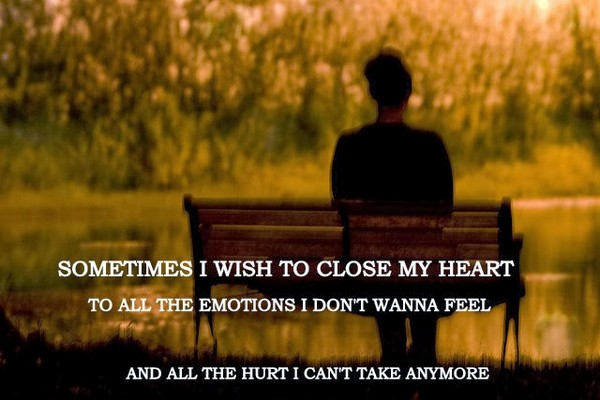 Sometimes I Wish To Close My Heart To All The Emotions I Donu0027t Wanna Feelu2026  Funny Quotes On Being Alone