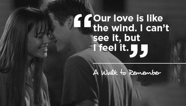a walk to remember quotes our love is like the wind - photo #30