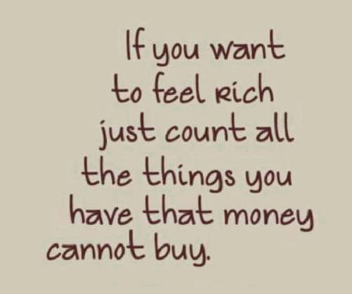 Feel Rich Lovely Quotes