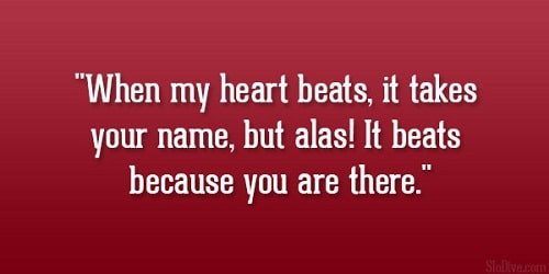Heart Beats Love Quotes for Her
