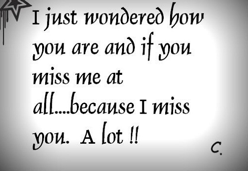 I Miss You a Lot Love Quotes for Her