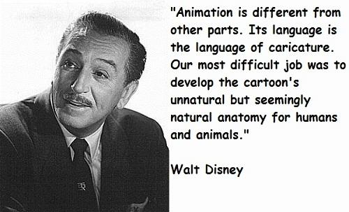 Language of Caricature Walt Disney Quotes