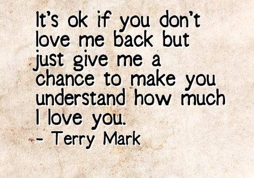 Love me Back Love Quotes for Her