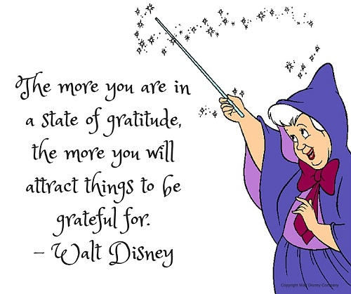 State of Gratitude Walt Disney Quotes