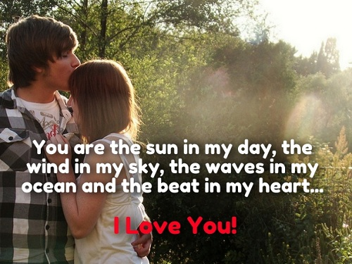 Sun in my Day Love Quotes for Husband