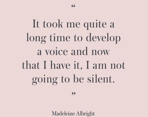 Develop a Voice Women Empowerment Quotes