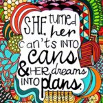 Dreams into Plans Women Empowerment Quotes